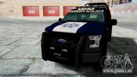 Ford F-150 2015 Policia Federal pour GTA San Andreas vue de droite