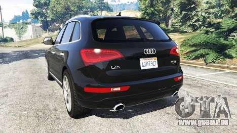 GTA 5 Audi Q5 2015 arrière vue latérale gauche