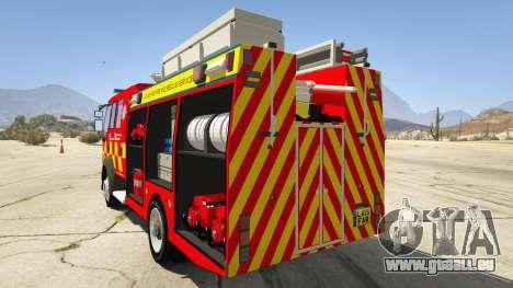 GTA 5 DAF Lancashire Fire & Rescue Fire Appliance hinten links Seitenansicht