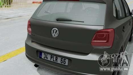 Volkswagen Polo 6R 1.4 HQLM für GTA San Andreas Rückansicht