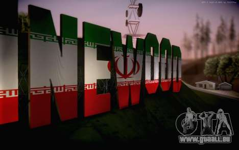 New Vinewood colors Iran flag für GTA San Andreas dritten Screenshot
