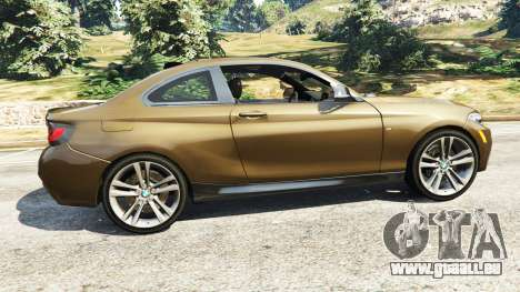 GTA 5 BMW M235i Coupe vue latérale gauche