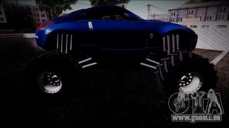 Nissan 350Z Monster Truck pour GTA San Andreas vue de droite
