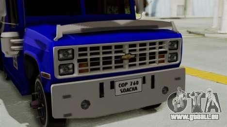 Chevrolet C30 Furgon Stylo Colombia pour GTA San Andreas vue de droite