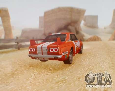 Nissan 2000GT-R [C10] Tunable pour GTA San Andreas sur la vue arrière gauche