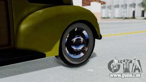 Ford V-8 De Luxe Station Wagon 1937 Mafia2 v1 pour GTA San Andreas sur la vue arrière gauche