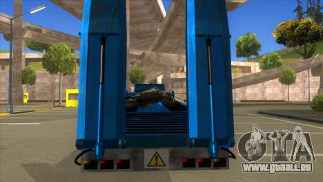 Trailer with Hydaulic Ramps pour GTA San Andreas vue intérieure