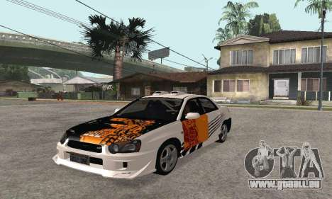 Subaru Impreza WRX STi Tunable pour GTA San Andreas vue arrière