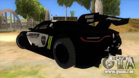 Renault Sport RS 01 INTERCEPTOR pour GTA San Andreas sur la vue arrière gauche