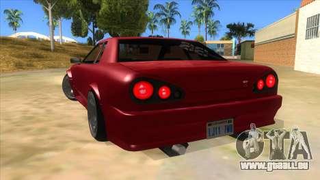 GTR Elegy pour GTA San Andreas sur la vue arrière gauche