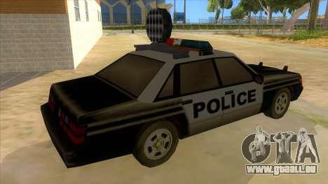 Police Car from Manhunt 2 für GTA San Andreas rechten Ansicht