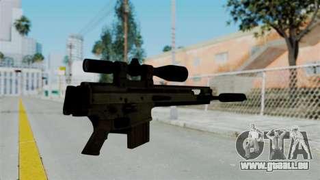 SCAR-20 v2 Folded pour GTA San Andreas deuxième écran