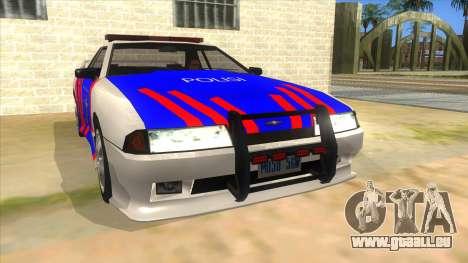 Elegy NR32 Police Edition White Highway für GTA San Andreas Rückansicht