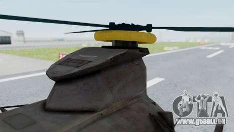 MH-47 Umbrella U.S.S pour GTA San Andreas vue de droite