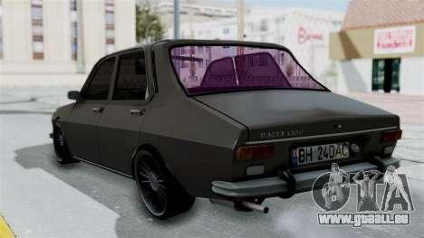 Dacia 1300 Edition[RC] pour GTA San Andreas laissé vue