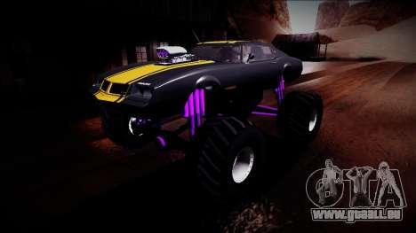 GTA 5 Imponte Phoenix Monster Truck pour GTA San Andreas vue de dessous