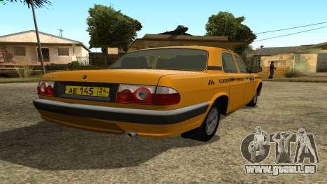 GAZ 31105 Volga Taxi FIV pour GTA San Andreas sur la vue arrière gauche