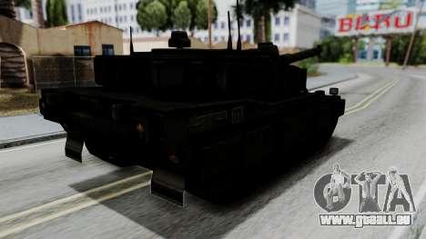 Point Blank Black Panther Woodland für GTA San Andreas linke Ansicht