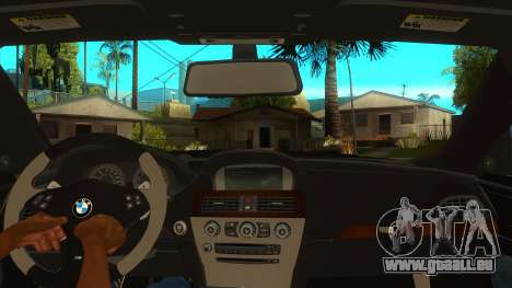 BMW M6 Full Tuning pour GTA San Andreas vue intérieure