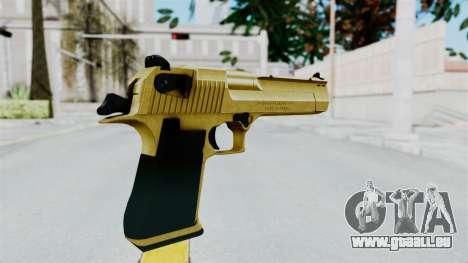 Pouxs Desert Eagle v2 Gold für GTA San Andreas dritten Screenshot