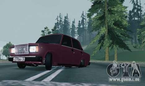 VAZ 2107 NNBPAN pour GTA San Andreas laissé vue