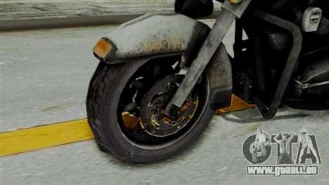 Police Bike from RE ORC pour GTA San Andreas sur la vue arrière gauche