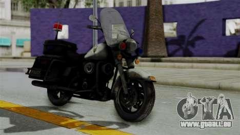 Police Bike from RE ORC pour GTA San Andreas vue de droite