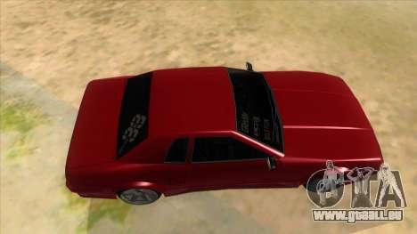 GTR Elegy pour GTA San Andreas vue intérieure