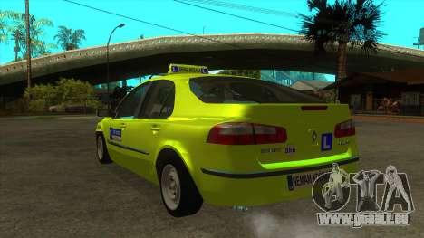 Renault Laguna Mk2 Vitesse Automatique Škola pour GTA San Andreas sur la vue arrière gauche