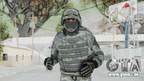Acu Soldier Balaclava v4 pour GTA San Andreas