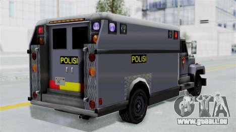Indonesian Police BRIMOB Enforcer für GTA San Andreas linke Ansicht
