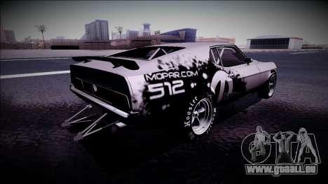 1971 Ford Mustang Drag pour GTA San Andreas laissé vue