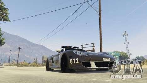 GTA 5 Porsche Carrera GT Cop Rückansicht