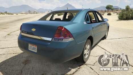GTA 5 Chevrolet Impala hinten links Seitenansicht