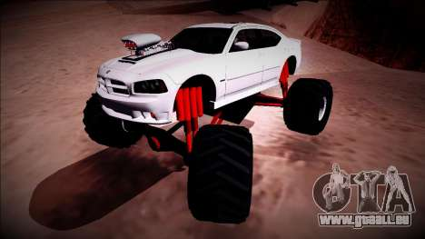 2006 Dodge Charger SRT8 Monster Truck für GTA San Andreas obere Ansicht