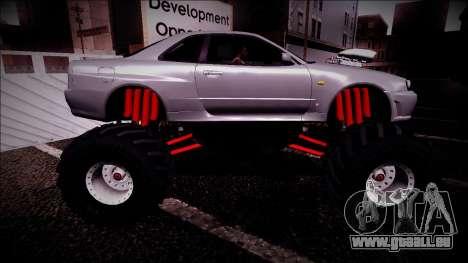 Nissan Skyline R34 Monster Truck für GTA San Andreas Unteransicht