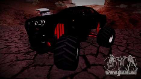Nissan Skyline R34 Monster Truck für GTA San Andreas Innenansicht