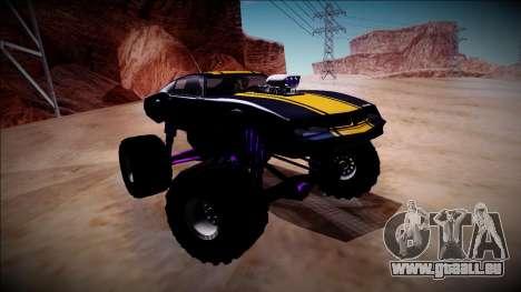GTA 5 Imponte Phoenix Monster Truck pour GTA San Andreas vue intérieure