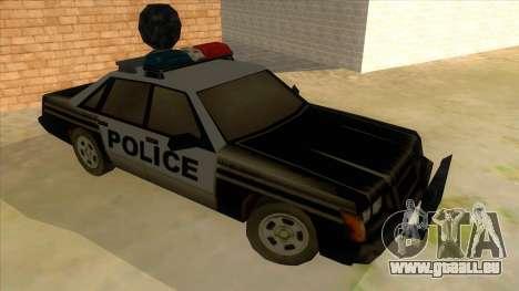 Police Car from Manhunt 2 für GTA San Andreas Rückansicht