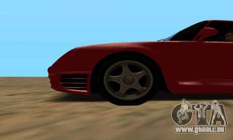 Porsche 959 pour GTA San Andreas sur la vue arrière gauche