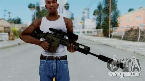SCAR-20 v2 Supressor pour GTA San Andreas troisième écran