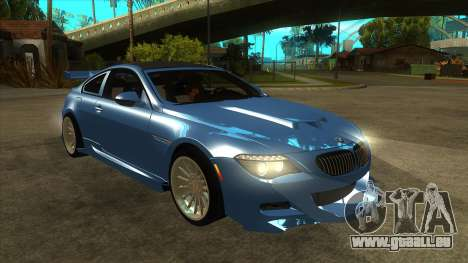 BMW M6 Full Tuning pour GTA San Andreas vue arrière