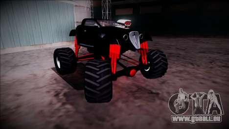 GTA 5 Hotknife Monster Truck pour GTA San Andreas vue de côté