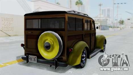 Ford V-8 De Luxe Station Wagon 1937 Mafia2 v2 für GTA San Andreas linke Ansicht