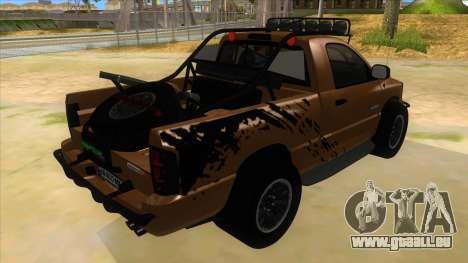 Dodge Ram SRT DES 2012 pour GTA San Andreas vue de droite