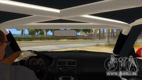 Nissan Silvia S14 Drag pour GTA San Andreas vue intérieure