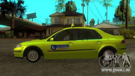Renault Laguna Mk2 Vitesse Automatique Škola pour GTA San Andreas laissé vue