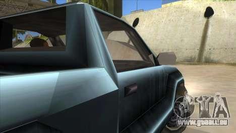 GTA III Bobcat Original Style pour GTA San Andreas vue intérieure