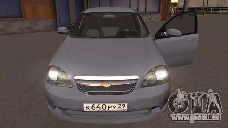 Chevrolet Lacetti Sedan pour GTA San Andreas vue arrière