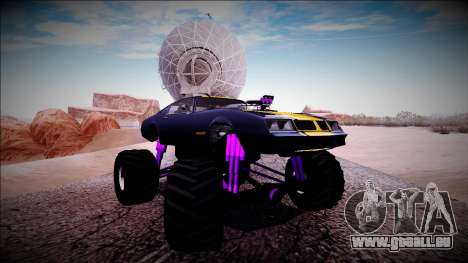 GTA 5 Imponte Phoenix Monster Truck pour GTA San Andreas vue de côté